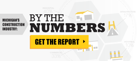 Michigan's Construction Industry: By the Numbers report brought to you by Michigan Construction.